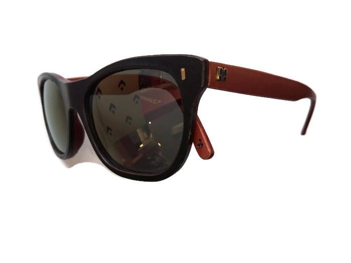Gafas de Sol Norriss Vagalo Cuero Marrón Handmade Optilens