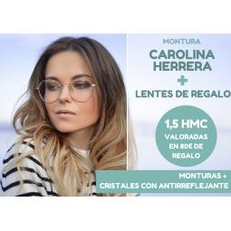 PROMO MONTURA CAROLINA HERRERA + CRISTALES GRATIS